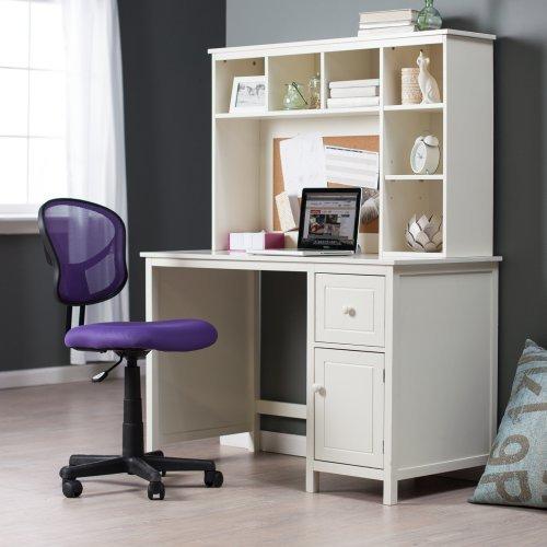 Piper Desk With Optional Hutch Set Vanilla Walmart Com