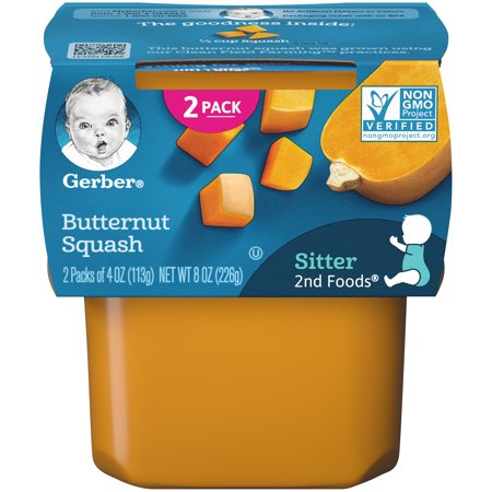 Gerber 2nd Foods Butternut Squash Baby Food, 4 oz. Tubs, 2 Count (Pack of (Best Tasting Baby Food Flavors)