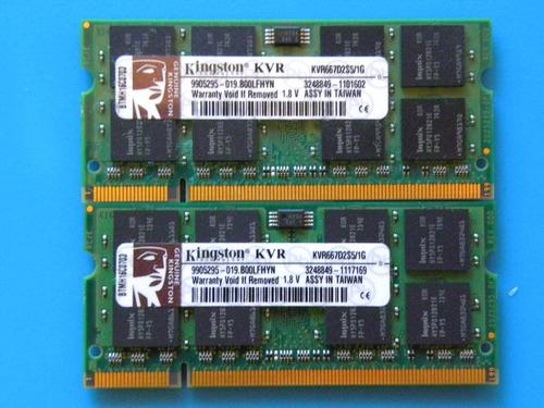 Kingston Kingston Valueram Memory -memory - 1 Gb - So Dimm 200-pin - Ddr Ii - 667 Mhz / P