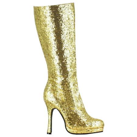 Women's Gold Glitter Boots](Gold Go Go Boots)