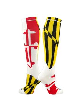 213a4478a30 Product Image TCK Elite Flag Knee-High Socks - MARYLAND - White