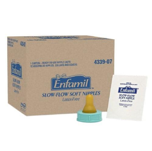 Enfamil Slow-Flow Soft Nipples, Latex-Free 12pk by Enfamil