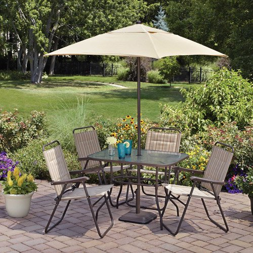 Mainstays Glenmeadow 6 Piece Folding Patio Set Walmartcom