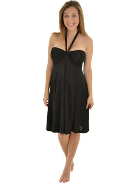 770a63e5fdc1 Product Image Womens Black Bandeau Dress with Convertible Straps Halter or  Strapless. India B