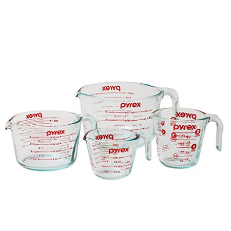 Discount Cups (Pyrex 4-Piece Glass Measuring Cup)