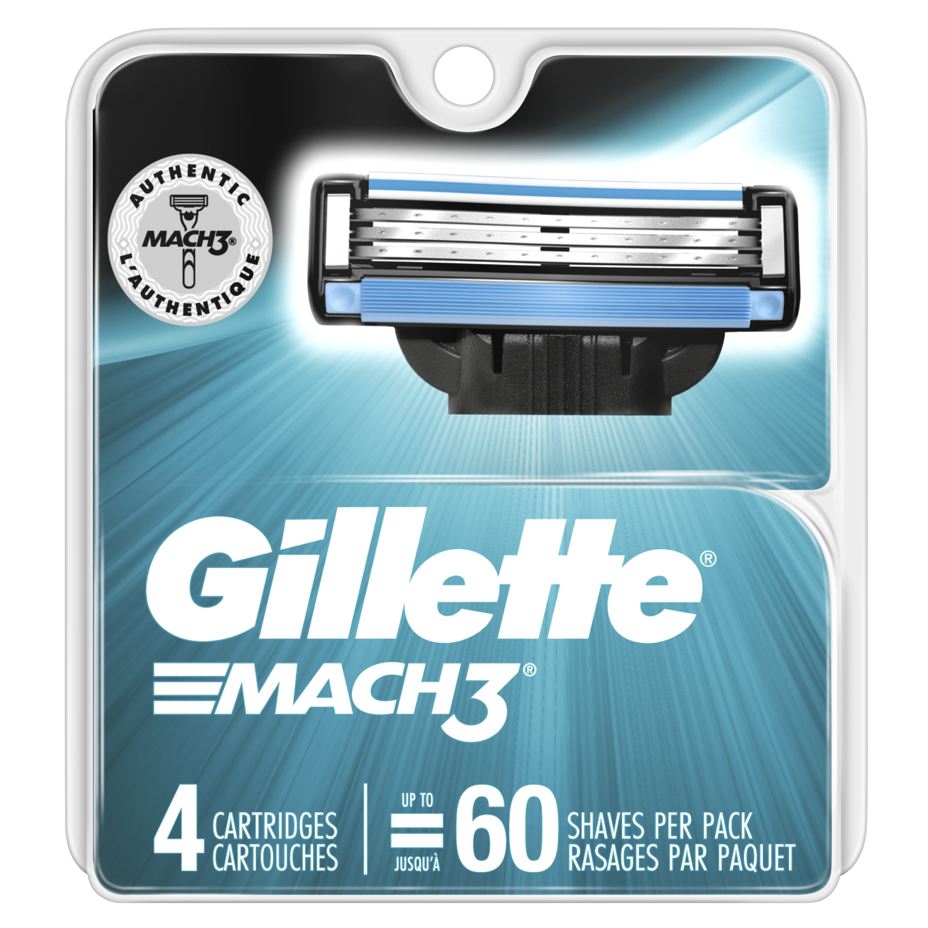 Gillette Mach3 Men's Razor Blades (Choose Count)
