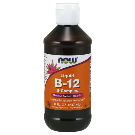 NOW Supplements, Vitamin B-12 Complex Liquid, 8-Ounce (B12 Complex Injection)