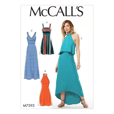 McCall's Sewing Pattern Misses' Sleeveless Pullover Dresses with Neckline, Bodice, - Mccall Halloween Patterns