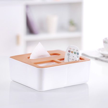 Modern Plastic Tissue Box Square Multi-function Tray Tissue Box Home Living Room Coffee Table Remote Storage Box Creative Napkin Tray (Orange) (Coffee Tray Container)