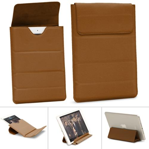 "GreatShield VERSE [Travel Friendly | Foldable Stand] PU Leather Pouch Sleeve Case for 7 to 8"" Tablets - Brown"