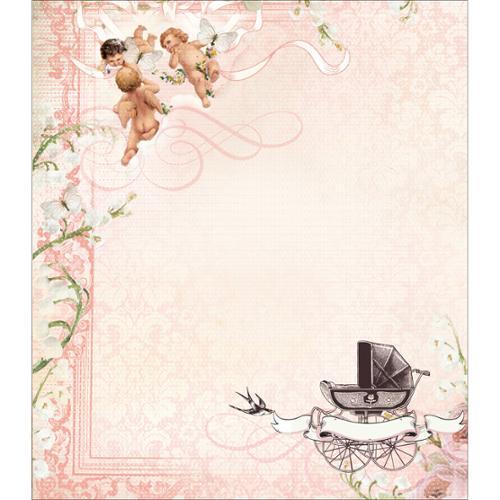 """Bundle Of Joy Gift Bag 13""""X15""""X2.75"""" (330x380x70mm)-Girl"""
