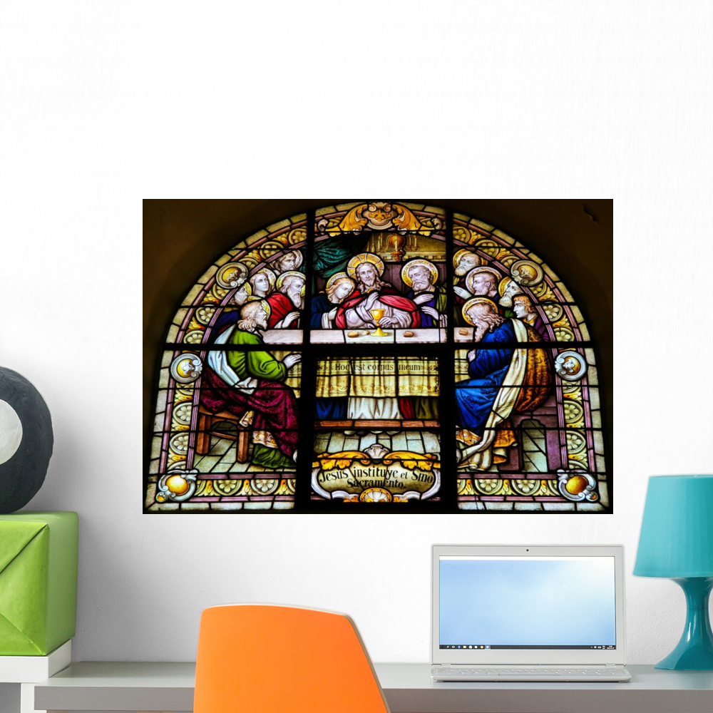 Last Supper Wall Mural by Wallmonkeys Peel and Stick Graphic 24 in