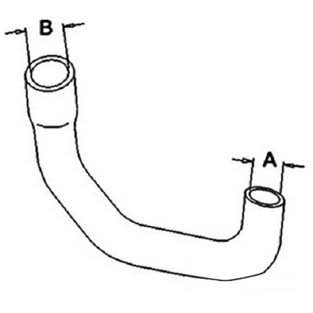 SBA310160850 Lower Radiator Hose for Ford New Holland