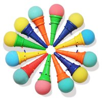 Novelty Place Ice Cream Shooters Toy (Pack of 12) - Squeeze N' Pop Game - Multi-Color Icecream Cone Foam Ball Launcher - Great Party Favors and Carnival Prize for Kids and Children (7 inch)