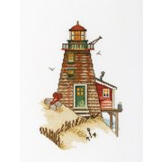 "Crab Lighthouse Counted Cross Stitch Kit-6-3/4""X9-3/4"" 16 Count"