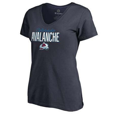 Colorado Avalanche T-shirt - Colorado Avalanche Women's Nostalgia T-Shirt - Navy