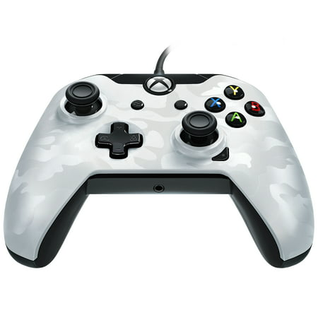 PDP Stealth Series Wired Controller for Xbox One, Xbox One X and Xbox One S, Ghost White, 048-082-NA-CM01