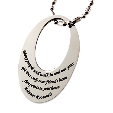 R.H. Jewelry Stainless Steel Pendant Friendship Tag - Friendship Jewelry