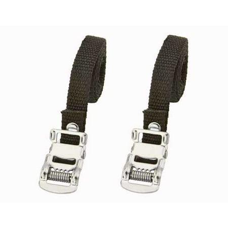 Nylon Toe Straps Black. Bike pedal strap, bicycle pedal strap, bicycle part, bike part, bike accessory, bicycle part (Bicycle Pedal Straps)
