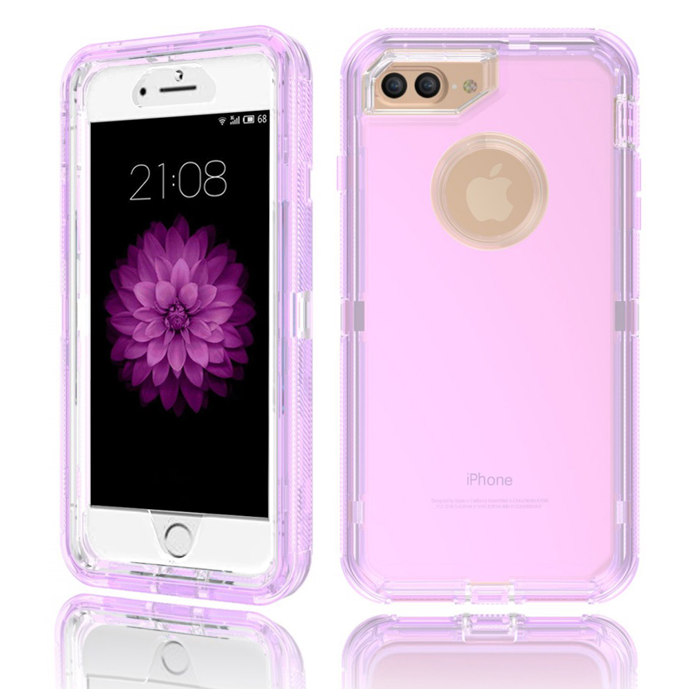 Apple IPhone 6/6S Plus / IPhone 7 Plus / IPhone 8 Plus Transparent Defender Armor Hybrid Case Cover