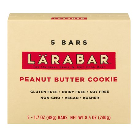 Larabar Gluten Free Bar  Peanut Butter Cookie  1 7 Oz Bars  5 Count