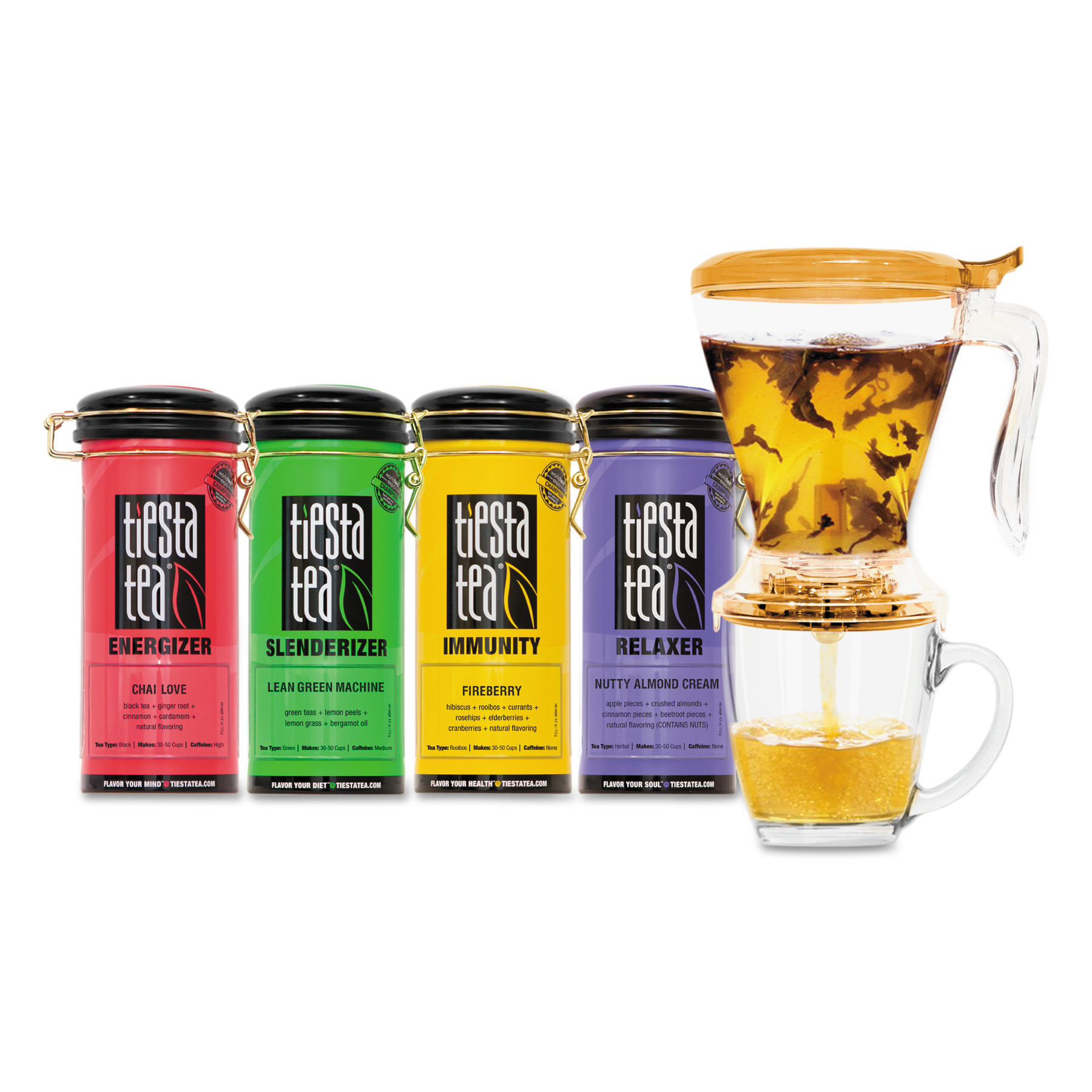 Tiesta Tea Assorted Loose Leaf Tea Starter Kit, 5 pc