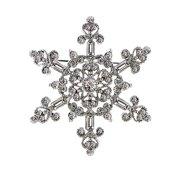 1928 Jewelry Vintage Inspired Snowflake Brooch