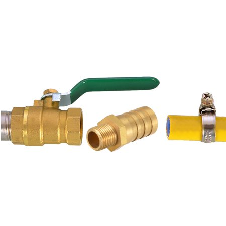 """Brass Barb Hose Fitting Connector Adapter 12mm Barbed x 3/8"""" G Male Pipe 2Pcs - image 3 of 4"""