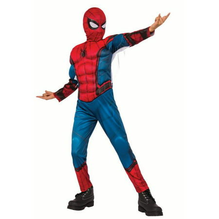 Rubies Child Spiderman Homecoming Halloween Muscle Chest Costume