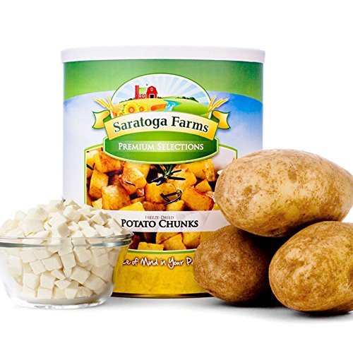 Saratoga Farms Freeze Dried Potato Chunks, #10 Can, 14oz (394g), 25 Total Servings, Food Storage, Every Day Use, Camping Food by Saratoga Farms