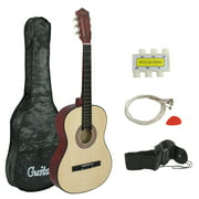 "Zeny 38"" Natural Acoustic Guitar for Starters Beginners With Guitar Bag, Strap,Strings,Pitch Pipe and Pic"