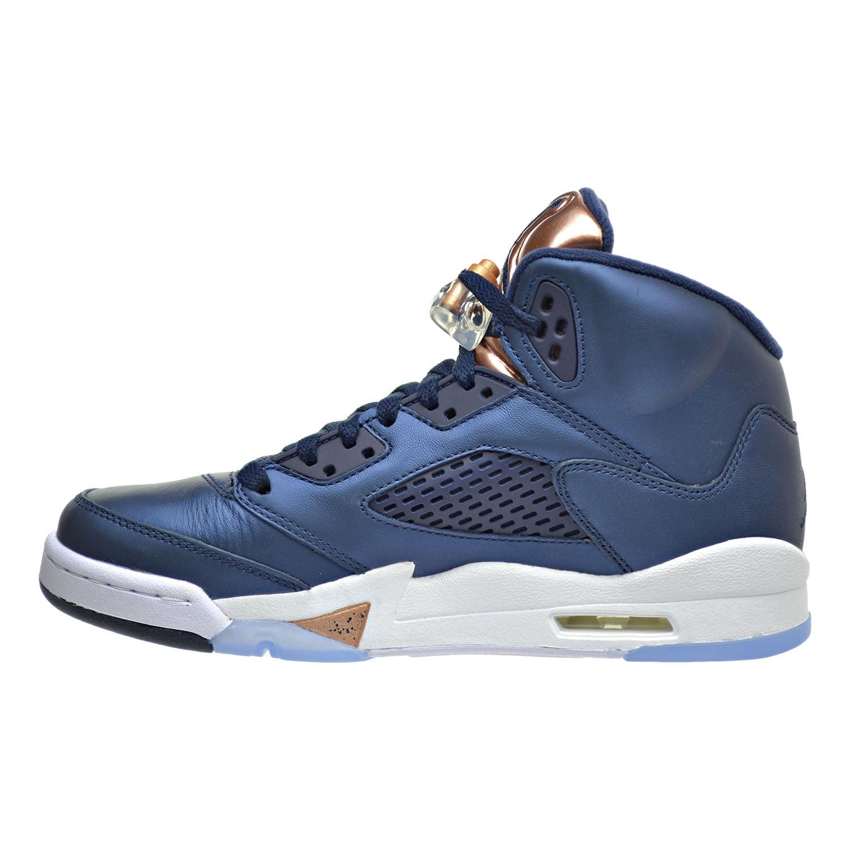 93b63094dc6b Jordan - Air Jordan 5 Retro BG Big Kid s Shoes Obsidian Metallic Red Bronze  440888-416 - Walmart.com