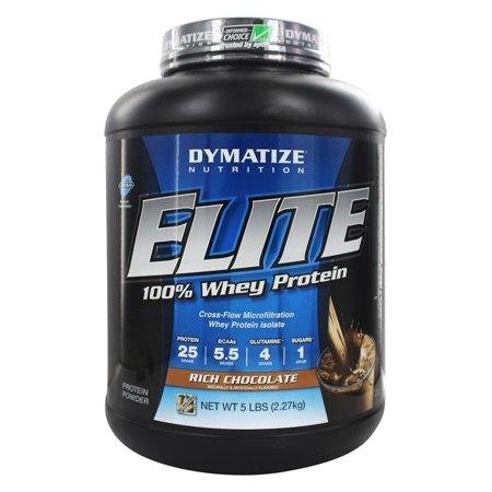 Dymatize Elite 100% Whey Protein Powder, Rich Chocolate, 25g Protein/Serving, 5 Lb