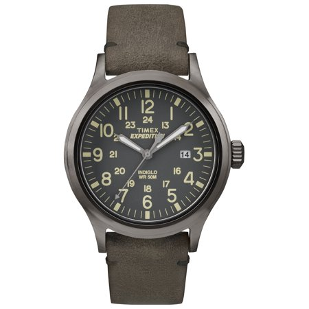 Timex Mens Expedition Scout Watch  Brown Leather Strap