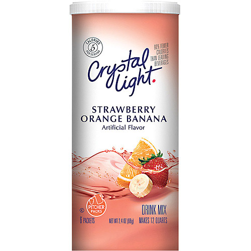 Crystal Light Sugar Free Strawberry-Orange-Banana Drink Mix, 2.4 Oz