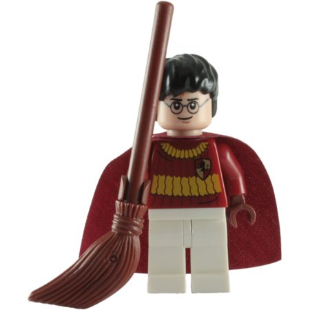 LEGO Minifigure - Harry Potter - HARRY POTTER with Broom (Quidditch Uniform) ()