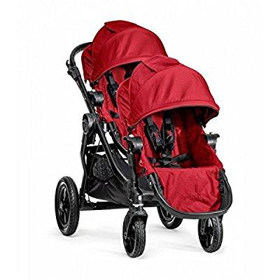 UNASSIGNED Baby Jogger City Select Single Black Frame Stroller with Second Seat - Red
