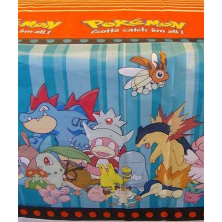 Pokemon Vintage Plastic Table Cover (1ct) - Pokemon Table