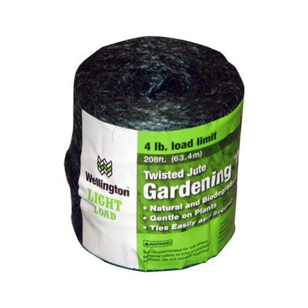 Wellington Cordage 14258 Household Jute Twine, 3-Ply, Green, Sold in Store By the Foot - Quantity (Wellington Green Stores)