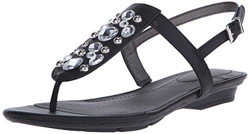 Lifestride Women's Envy Flat Sandal, Black, 6.5 M US by LifeStride