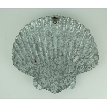 Galvanized Metal Scallop Shell Coastal Wall Decor Set - image 2 de 3
