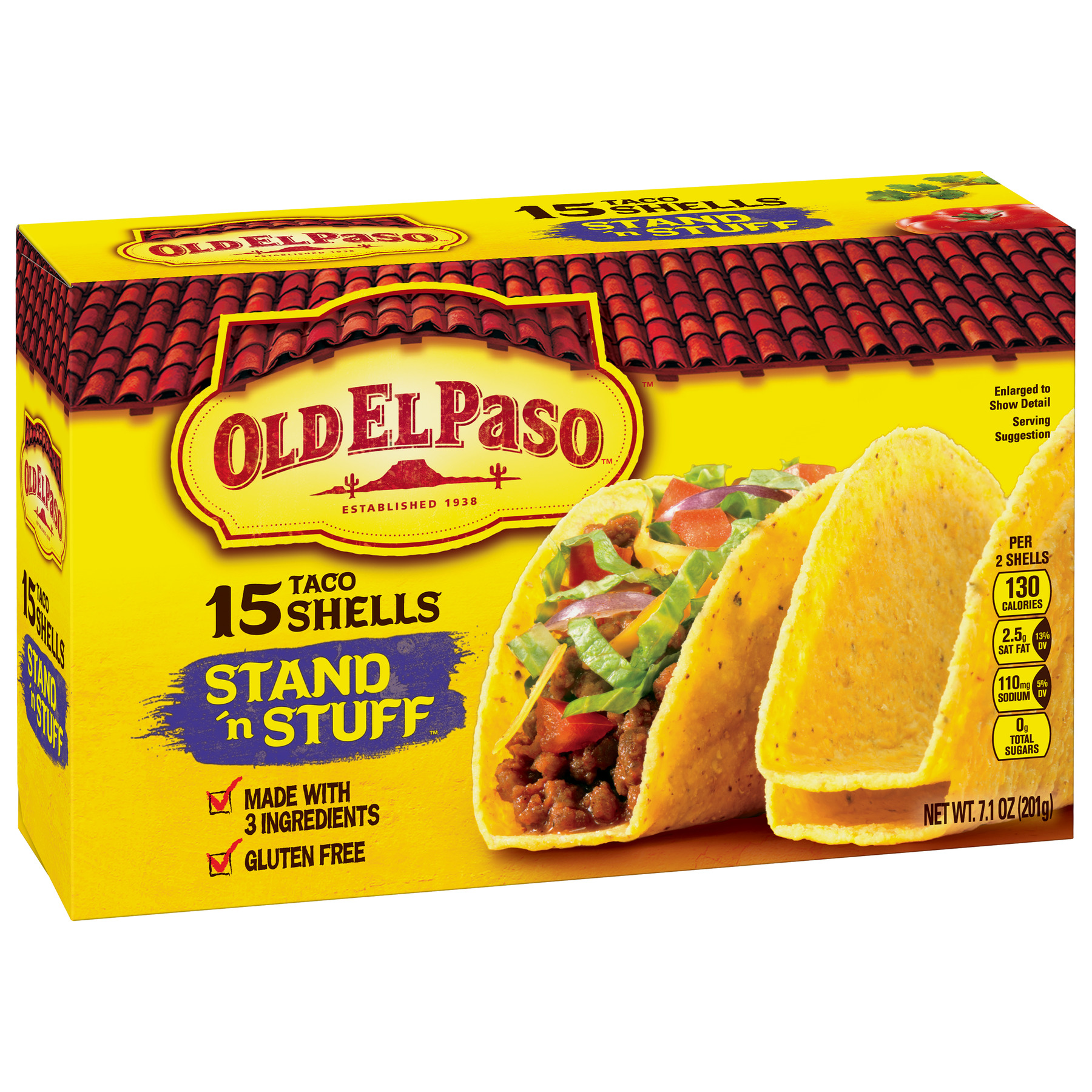 Old El Paso Stand 'N Stuff Shells, 15 Count, 7.1 oz