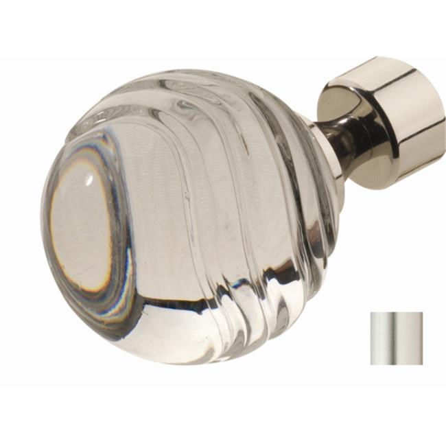 WinarT USA 8. 1122. 25. 01. 280 Carla 1122 Curtain Rod Set - 1 inch - Matte Nickel - 110 inch