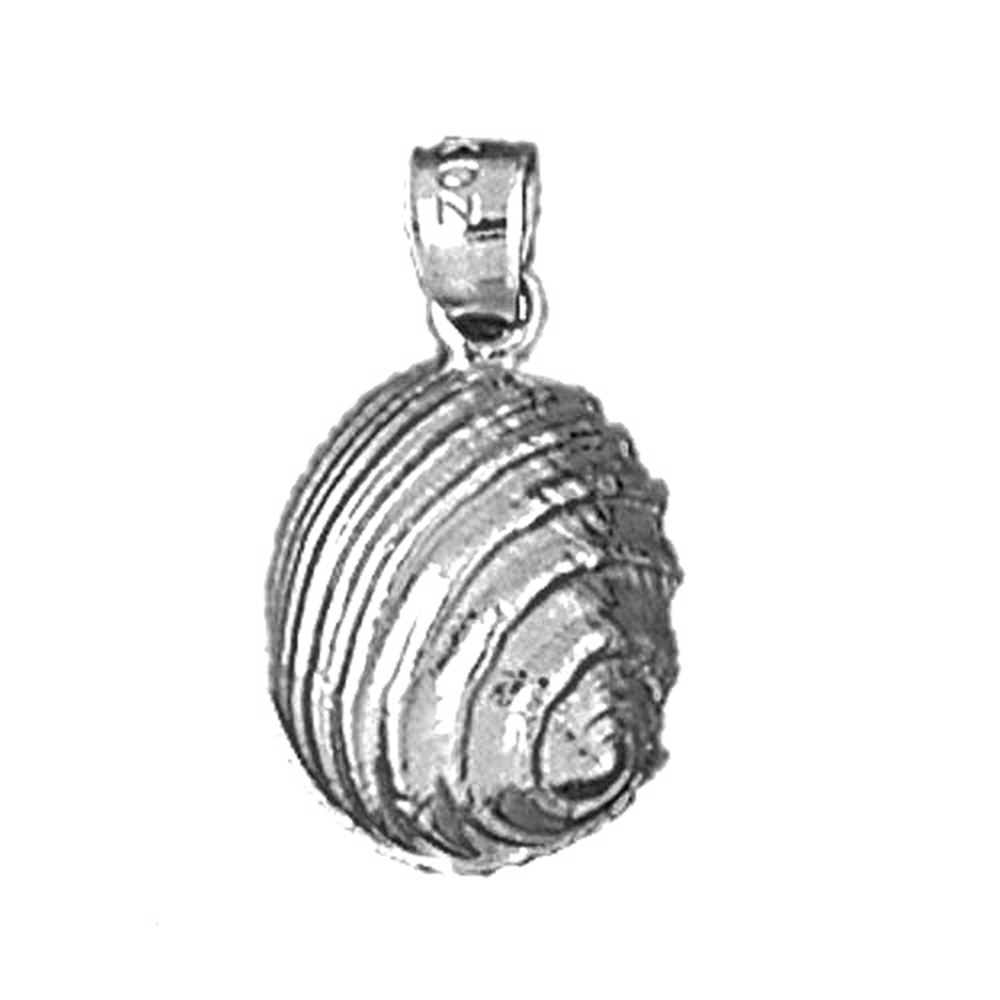 Sterling Silver Shell Pendant - 20 mm (Approx. 1.445 grams)