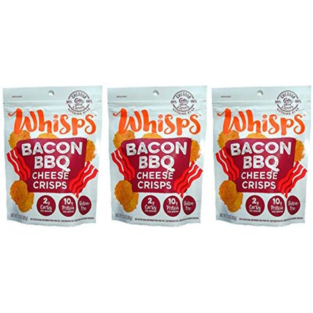 - (3 Pack) Cello Whisps Bacon BBQ Low Carb Keto Chips