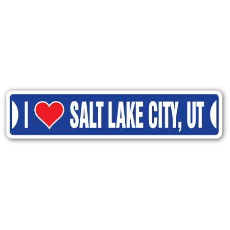 I LOVE SALT LAKE CITY, UTAH Street Sign ut city state us wall road décor gift](Salt Lake City Halloween Party)