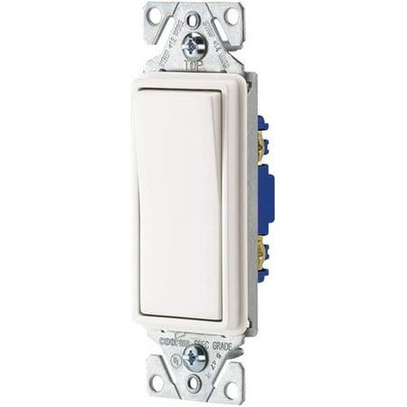 10Pk Deco Rocker Switch - White Cooper Wiring 3-Way Switches 7501W