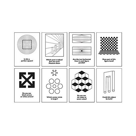 Geyer instructional products 250073 classic optical illusions poster set b 8 posters