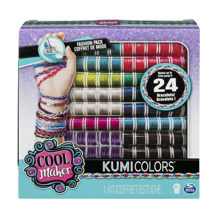 Cool Maker – KumiColors Jewels & Cools Fashion Pack, Makes Up to 24 Bracelets with the KumiKreator, for Ages 8 and Up](Paracord Bracelet Kit)