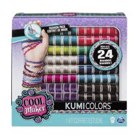 Cool Maker  KumiColors Jewels & Cools Fashion Pack, Makes Up to 24 Bracelets with the KumiKreator, for Ages 8 and Up